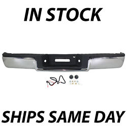 New Chrome - Rear Steel Step Bumper Assembly For 2004 2005 Ford F150 Truck 04 05