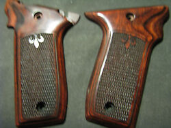 Smith Wesson .22lr Victory Checkered/fleur-de-lis Rosewood Pistol Grips New