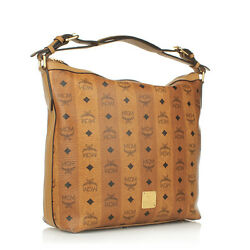 MCM Strasse Visetos Hobo Small Cognac Women Crossbody $549.99
