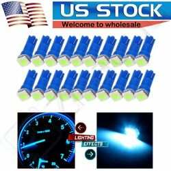 20X T5 Wedge Ice Blue 5050 1-SMD LED Dashboard Instrument Panel Lights 17 58 74