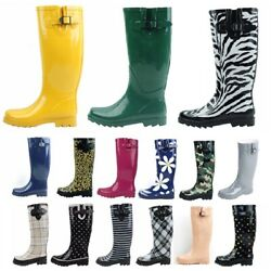 Starbay Women's Waterproof Rubber High Rain Boots, Available In Multiple Style