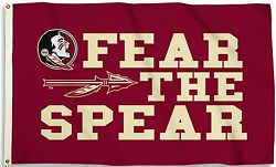 Florida State Seminoles 3and039 X 5and039 Flag Fear The Spear Ncaa Licensed