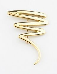 And Co. 18k Yellow Gold Paloma Picasso Large Zigzag Brooch Pin