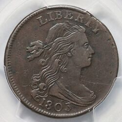 1803 S-244 R-4 Pcgs Vf 30 Small Date Sm Frac Draped Bust Large Cent Coin 1c