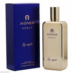 Aigner Debut By Night For Women 3.4 Oz Eau De Parfum Spray New In Box Sealed