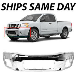 New Chrome - Front Bumper Face Bar Replacement For 2004-2014 Nissan Titan Armada