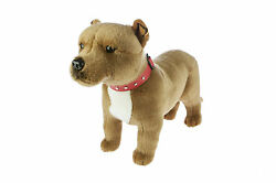 STANDING BROWN STAFFY STAFFORDSHIRE BULL TERRIER SOFT TOY DOG 16