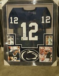 Kerry Collins Penn State Nittany Lions Autograph Framed Jersey. Coa