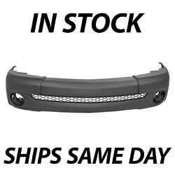 New Primered - Front Bumper Cover For 2000-2006 Toyota Tundra Pickup Truck Base