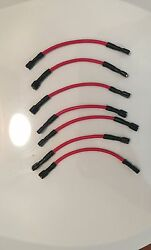 8 Qty -14 Awg Marine Red Tin Copper Wire Jumpers For Switch Panels. For 8 Gan...