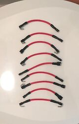 10 Qty -14 Awg Marine Red Tin Copper Wire Jumpers For Switch Panels. For 10...