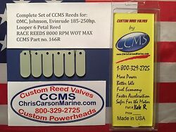 Ccms Omc Johnson Evinrude Race Outboard Reeds 185-250hp Looper Pn166r