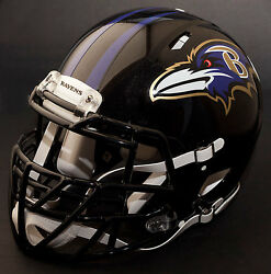 Baltimore Ravens Nfl Authentic Gameday Football Helmet W/ S2bdc-tx-lw Facemask