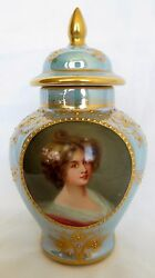 19th Century Royal Vienna Hand Painted Porcelain Covered Urn