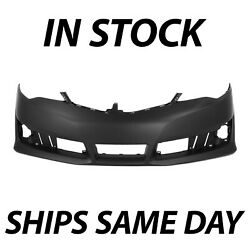 New Primered - Front Bumper Cover Fascia For 2012-2014 Toyota Camry Se To1000379