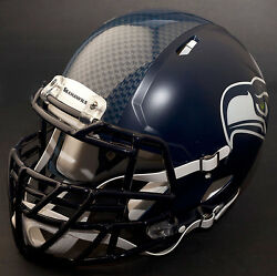 Seattle Seahawks Nfl Authentic Gameday Football Helmet W/ S2bdc-tx-lw Facemask