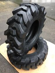 2 New 12.5/80-18 Camso Sl R4 Backhoe Tires R4 - Heavy Duty 12 Ply