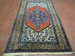 4and039 X 6and039 Antique Hand Made Turkish Wool Rug Nice