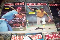 1974 -78 Sporting News Baseball Registers Pete Rose And More Vg Cheap No Reserve