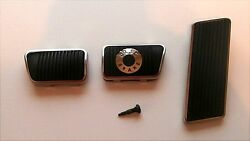 1965 68 Ford Mustang Disc Brake Clutch Gas Pedal Pad Set W Trim New $49.95