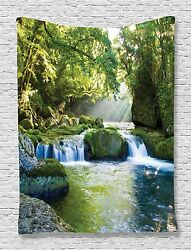 Misty Mountains Jungle Tapestry Wall Hanging for Living Room Bedroom Dorm Decor