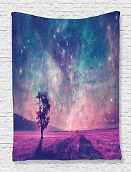 Galaxy and Lonely Tree Art Tapestry Wall Hanging Living Room Bedroom Dorm Decor