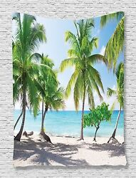 Catalina Island Palms Tapestry Wall Hanging for Living Room Bedroom Dorm Decor