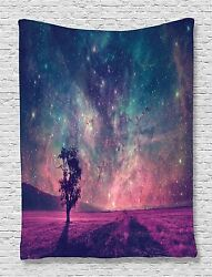 Galaxy and Lonely Tree Tapestry Wall Hanging for Living Room Bedroom Dorm Decor