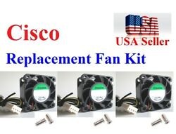 3x New Plug-n-Play replacement fans for Cisco ASA 5525-X Satisfaction Guaranteed