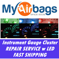 GM Chevy S10 Speedometer Instrument Cluster Gauge Light Repair Service +LED