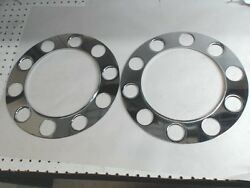 New - Lot Of 2 Chrome Beauty Rings For Steel Wheels Stud Piloted Sh
