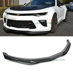 Fit 16-up Chevy Camaro Ss T6 Style Abs Plastic Front Bumper Lip Spoiler