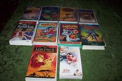 10 Vintage Disney Vhf Well Known Tapes Great Condition Cheap No Reserve
