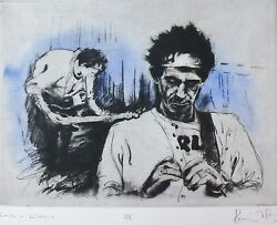 Ronnie Wood Keith Richards In Killdare 1994 Etching Hand Signed Rolling Stones