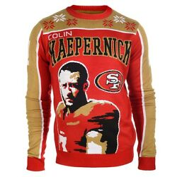 Mens San Francisco 49ers Colin Kaepernick Ugly Sweater W/face - Size Small