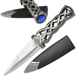 Scottish Jeweled Athame Wicca Wiccan Pagan Ceremonial Knife Dagger Altar