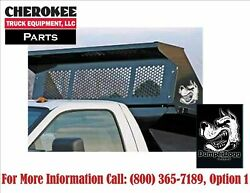 Dumperdogg/buyers Products 5531010 Black Steel Bolt-on Cab Guard For