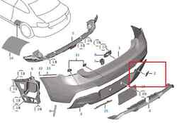 Painted Or Primed Bmw Rear Tow Hook Cover 2 Series E87 M2 2014 - 2016