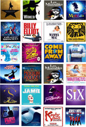 Broadway Musical Theatre Posters Theme Edible Icing Cake Toppers X 24