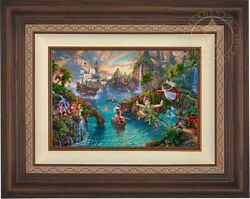 Thomas Kinkade Studios Peter Panand039s Never Land 24 X 36 Le G/p Canvas Framed