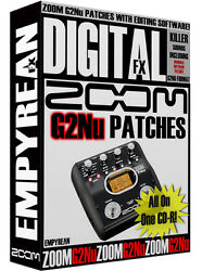 Zoom G2nu Patches Guitar Effects Pedal Tone Presets Amp Settings Win Mac