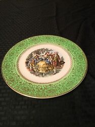 Old Vintage Plate Imperial By Salem China Service Plates Usa 23kt Gold Victorian