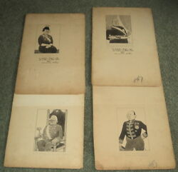 Fdr's New Deal - 4 Orig. Signed Drawings By Wyncie King, For Sat Eve Post -1935