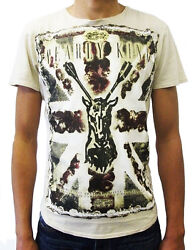 Pearly King Menand039s Mast T-shirt Oyster Pkts015