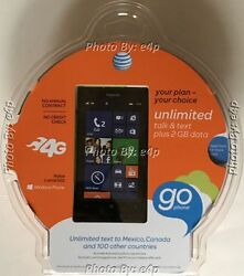 Nokia Lumia 520 Atandt Gophone Smartphone Gsm No Contract Prepaid Brand New Sealed