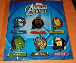 Disney Pins Marvel Avengers Assemble Booster 6 Pins - New / Sealed Authentic