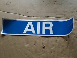 Qty = 12 18 X 4 Stickers Air Blue, Signage, Labeling, Gas