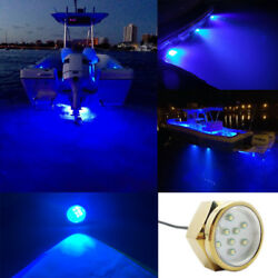 27w Blue Led Boat Drain Plug Underwater Light For Diving Fishing Swimming Lamps