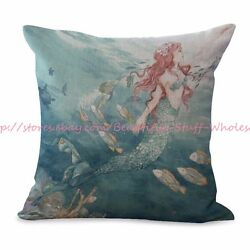 decorative pillow covers for couch mermaid cushion cover