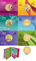 Qatar – 15th Asian Games – Doha 2006 /orry The Official Mascot, Album Of 6 Coins